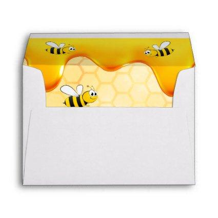 Birthday happy bumble bees honeycomb dripping envelope