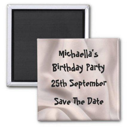 Birthday party Create your own magnet