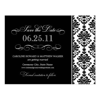 Black and White Elegant Damask