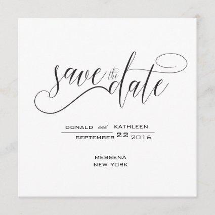 Black and White Elegant Save the Date