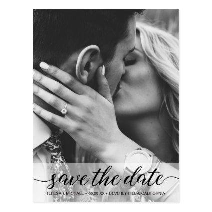 Black and White Save the Date Classic Script
