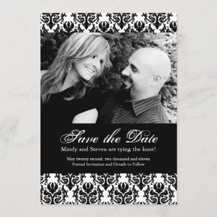 Black and White Save the Date Wedding Template