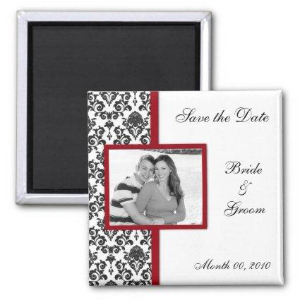 Black Damask Save the Date Magnetss