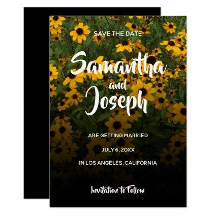 Black Eyed Susans Ombre Save the Date Invitation