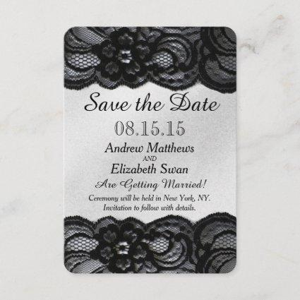 Black Lace and Satin Save the Date