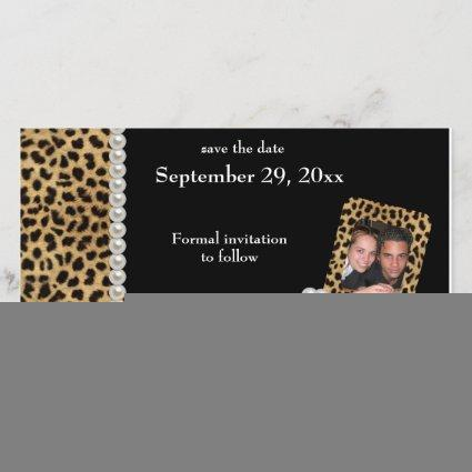 Black Leopard And White Pearls Save The Date
