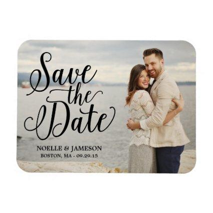 Black Lettered Overlay | Save the Date Magnet