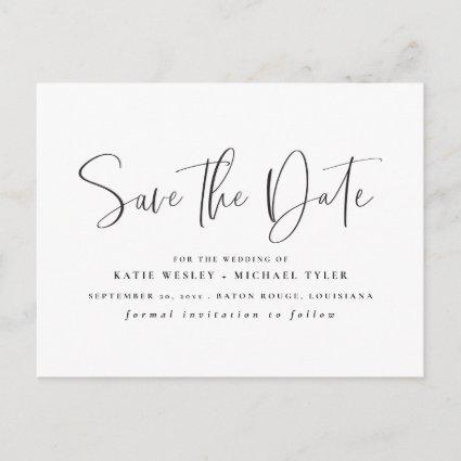 Black Minimal Typography Save the Date Announcement