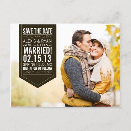Black Save The Date Announcements Cards