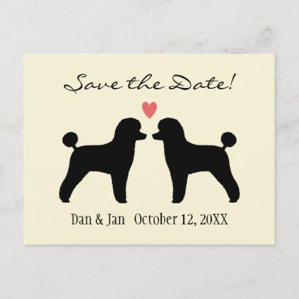 Black Toy Poodles Wedding Save the Date Announcement