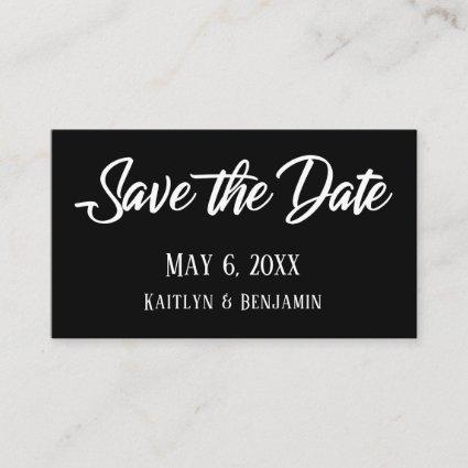 Black Wedding Detail Save the Date Enclosures Business Card