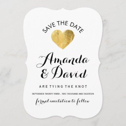 Black, White and Gold Save the Date
