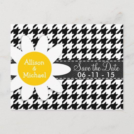 Black & White Houndstooth.; Spring Daisy Announcement