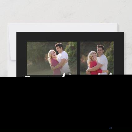 Black White Save the Date 2 Photo Modern Lettering