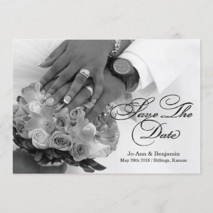 Black & White - Save The Date - Wedding #2