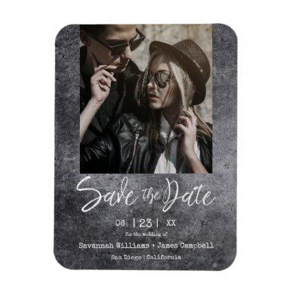 Blackboard Grunge Engagement Couple Dirty Texture Magnet
