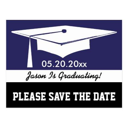 Blue and Black Modern Graduation Cards
