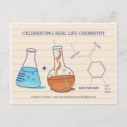 Blue and Orange Save the Date Chemistry s