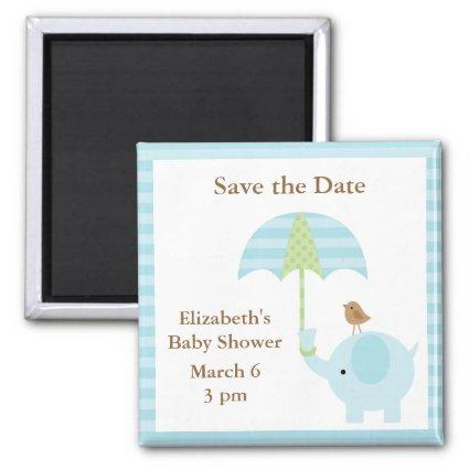 Blue Elephant Save the Date Magnets