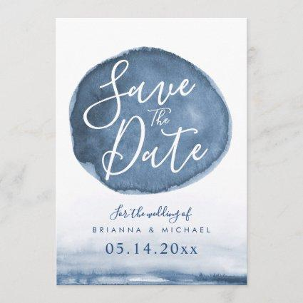 Blue Lake Water Stain | Custom Save the Date