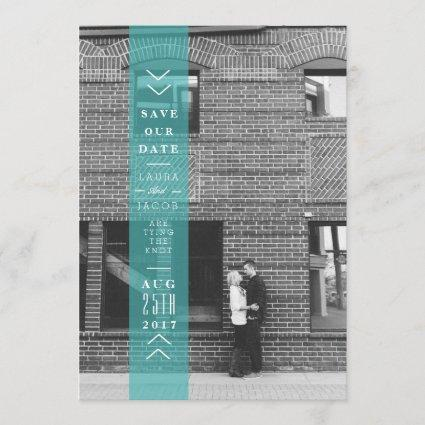 Blue Save The Date Banner | Overlay Photo
