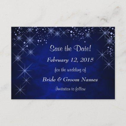 Blue Starry Night Wedding Save the Date