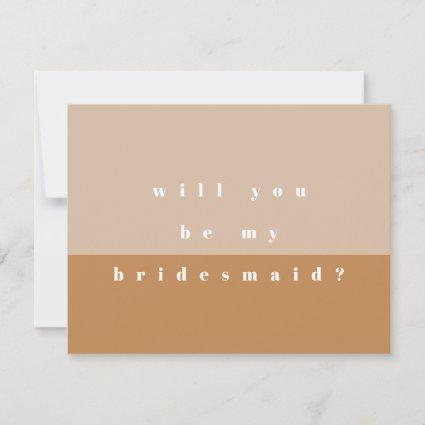 Blush Color Block Will You Be My Bridesmaid Save The Date