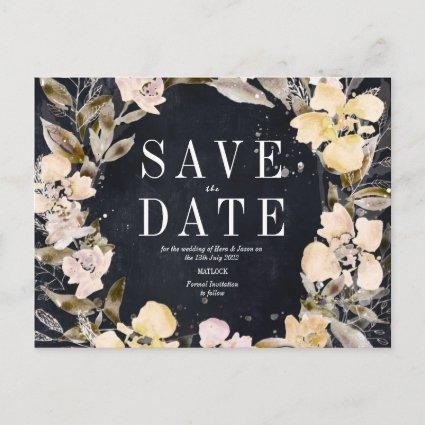 Blush florals with charcoal backing