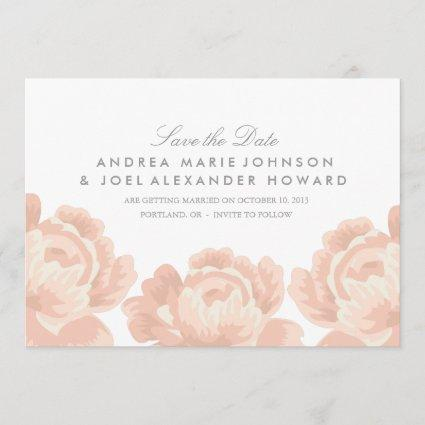 Blush Pink Roses Wedding Save the Date