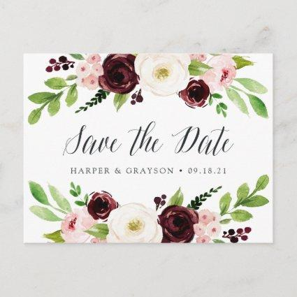 Blush Romance Save the Date Announcement