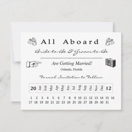Boarding Pass Save the Date