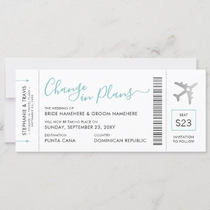 Boarding Pass Ticket Change the Date Silver Plane Announcement