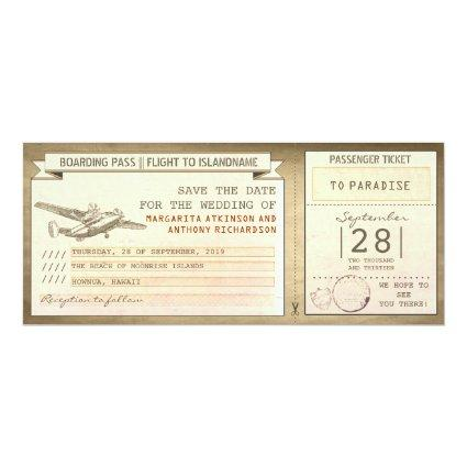 boarding pass tickets -vintage
