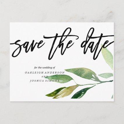 Bohemian Leaves Save the Date Photo