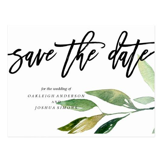Bohemian Leaves Save the Date Photo Cards
