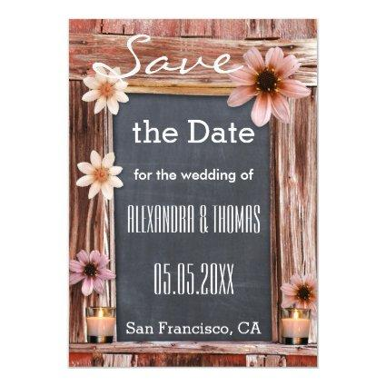 Bohemian Rustic Save the Date Thin Magnetic Card