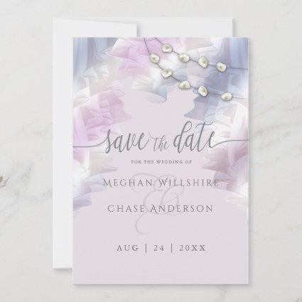 BOHO New Age Lilac Ombré Ruffles Save The Date