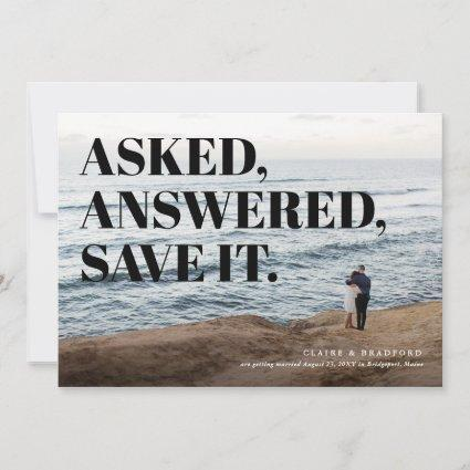 Bold and Cheeky Typographic Wedding Save the Date