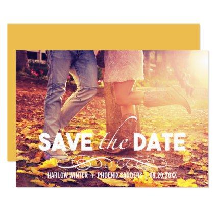 Bold Font Simple Photo Save the Date