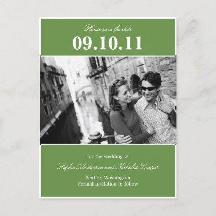 Bold Reminder Save The Date Cards (Green)