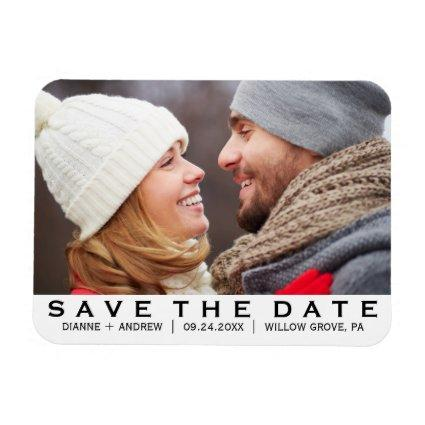 Bold Text Save the Date Magnets