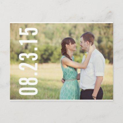 BOLD TYPOGRAPHY | PHOTO SAVE THE DATE Cards