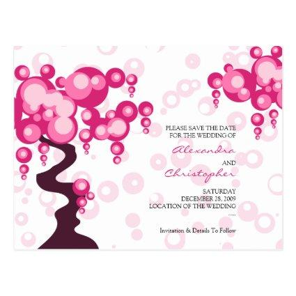 Bonsai Tree Stylish Save the Date Announcements Cards