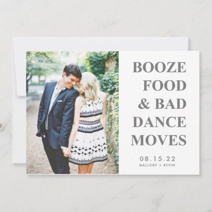 Booze Food Bad Dance Moves Funny Save the Date