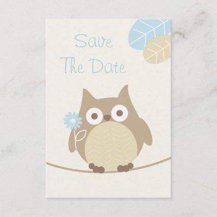 Boy Owl Baby Shower Save The Date