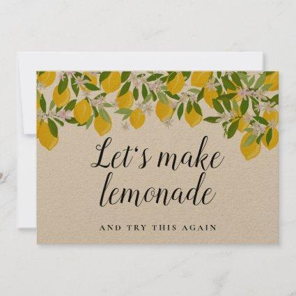 Bridal Shower Lemons Change the Date Rustic Save The Date