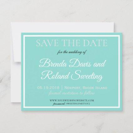 BRIDE CO Touch Of Silver Traditional Wedding Suite Save The Date
