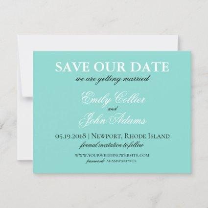 BRIDE Country Wedding Suite White Traditional Save The Date