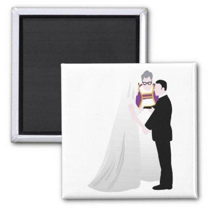 Bride, Groom and Officiant Magnets