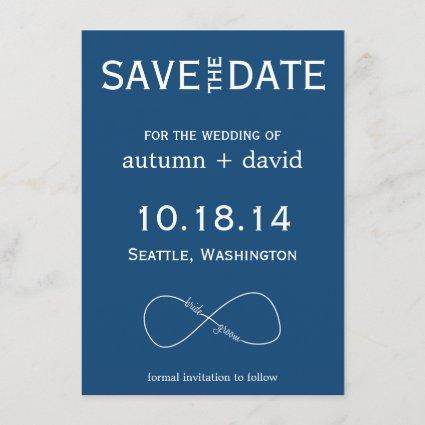 Bride & Groom Infinity Modern Save the Date